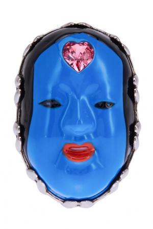 Кольцо с эмалью и кристаллом Gucci. Цвет: синий