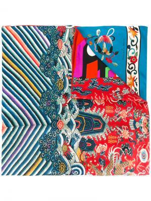 Полосатый шарф с рисунком Pierre-Louis Mascia. Цвет: none