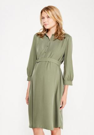 Платье Gap Maternity. Цвет: хаки