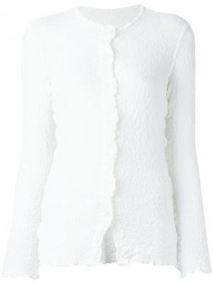 Рубашка с мятым эффектом Issey Miyake Cauliflower. Цвет: белый