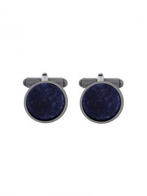 Запонки с круглыми вставками из камней Lanvin. Цвет: металлический