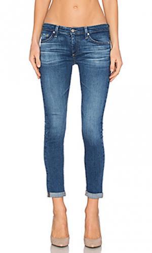 Укороченные джинсы stilt roll up AG Adriano Goldschmied. Цвет: none