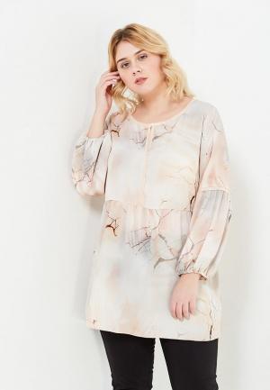 Блуза Fiorella Rubino. Цвет: бежевый