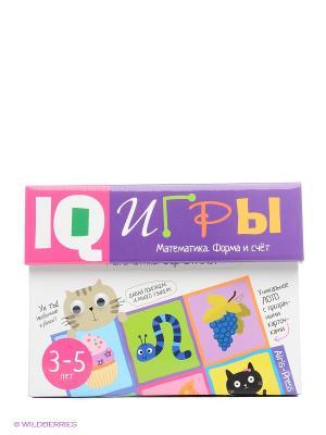 Сундучок с  IQ играми. Математика. Форма и счет. 3-5 лет АЙРИС-пресс. Цвет: фиолетовый, белый