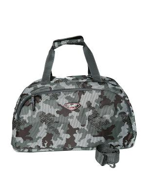 Спортивная сумка для фитнеса и путешествий JD.ZARZIS. Цвет: серый, хаки