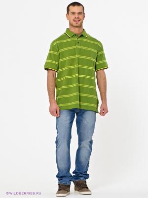 Футболка-поло Trespass. Цвет: светло-зеленый, желтый