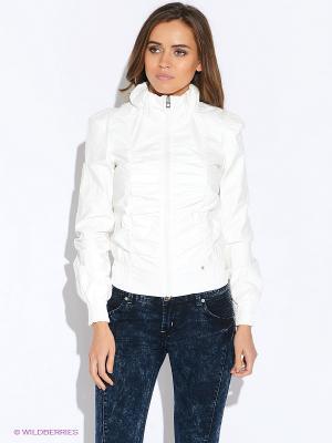 Куртка Oodji. Цвет: молочный