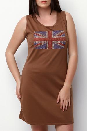 Платье ZEDD. Цвет: коричневый
