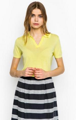 Желтый джемпер с короткими рукавами MORE &. Цвет: желтый