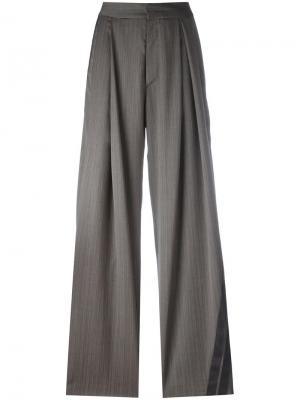 Широкие брюки Party A.F.Vandevorst. Цвет: серый