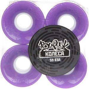 Колеса для скейтборда лонгборда  Purple 83A 59 mm Вираж. Цвет: фиолетовый
