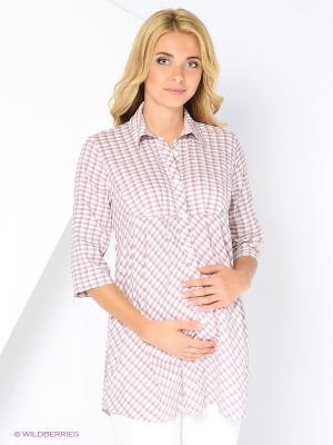 Блузка 40 недель. Цвет: коричневый, розовый, светло-коричневый