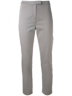 Облегающие укороченные брюки Eleventy. Цвет: телесный