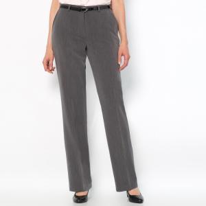Брюки из комфортной ткани стрейч ANNE WEYBURN. Цвет: серо-коричневый,серый меланж,черный