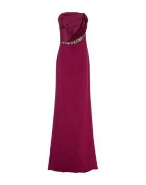 Длинное платье MARCHESA NOTTE. Цвет: фиолетовый