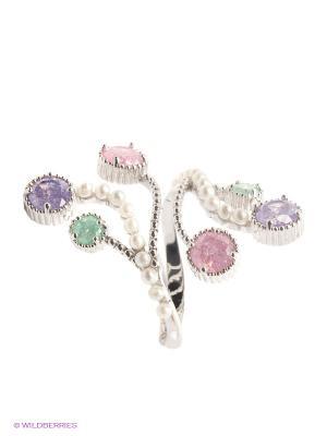Кольцо Royal Diamond. Цвет: серебристый, розовый, зеленый, фиолетовый