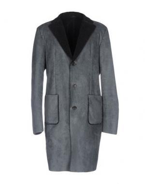 Пальто DANIELE ALESSANDRINI. Цвет: свинцово-серый