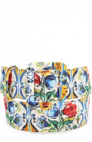 Ремень с принтом Dolce & Gabbana. Цвет: разноцветный