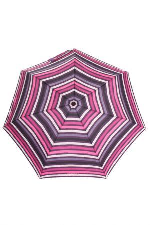 Зонт Isotoner. Цвет: розовый, полоски
