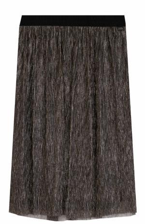 Юбка прямого кроя с металлизированной отделкой Marc Jacobs. Цвет: золотой