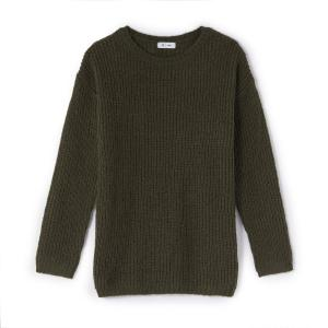 Пуловер длинный 10-16 лет La Redoute Collections. Цвет: бирюзовый,хаки