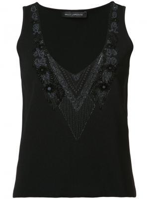 Платье с рифленым подолом Sally Lapointe. Цвет: чёрный