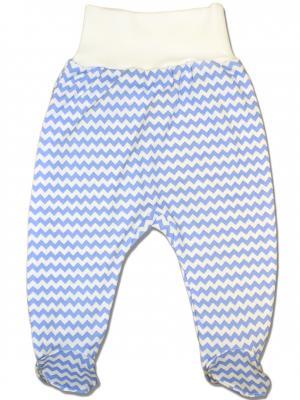 Ползунки LalaBaby. Цвет: голубой