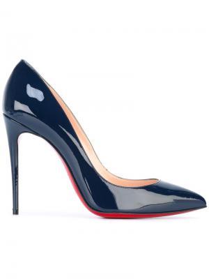 Туфли-лодочки Pigalle Follies 100 Christian Louboutin. Цвет: синий