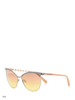 Солнцезащитные очки ML 524S 03 MOSCHINO. Цвет: белый, оранжевый, серый