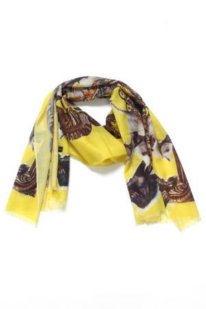Палантин F.FRANTELLI. Цвет: ярко-желтый