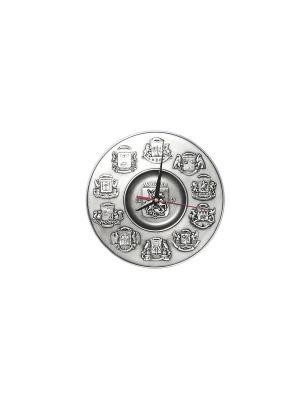 Тарелка-часы декоративная МОСКВА d 225 мм Elff Ceramics. Цвет: серебристый