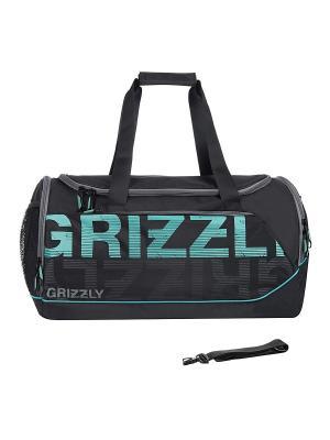 Сумка Grizzly. Цвет: черный, голубой