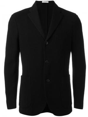 Пиджак с накладными карманами Boglioli. Цвет: чёрный