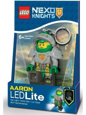 Брелок-фонарик для ключей LEGO Nexo Knights (Рыцари Нексо)- Aaron. Цвет: зеленый, серый, желтый