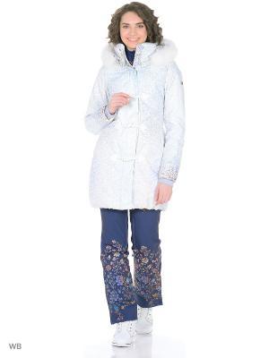 Пальто Stayer. Цвет: голубой, серебристый, светло-серый, фиолетовый, белый