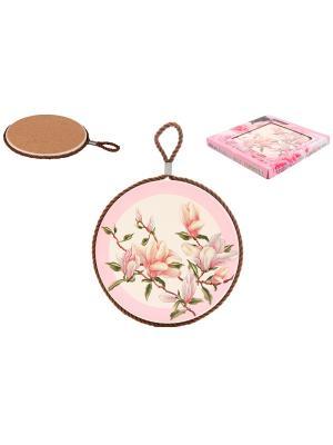 Подставка под горячее Орхидея на розовом Elan Gallery. Цвет: белый, розовый