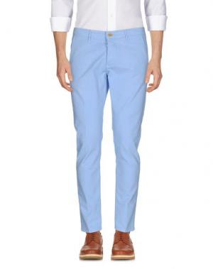 Повседневные брюки 0/ZERO CONSTRUCTION. Цвет: небесно-голубой