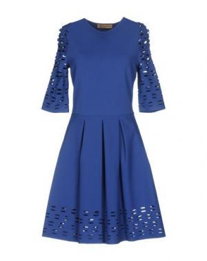 Короткое платье VICEDOMINI. Цвет: ярко-синий
