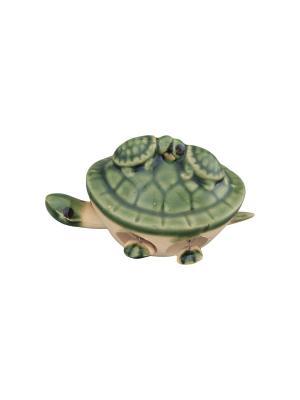 Фигурка декоративная 3 черепашки Elan Gallery. Цвет: зеленый