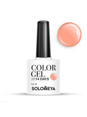 Гель-лак Color Gel Тон Peach SCG028/Персик SOLOMEYA. Цвет: персиковый