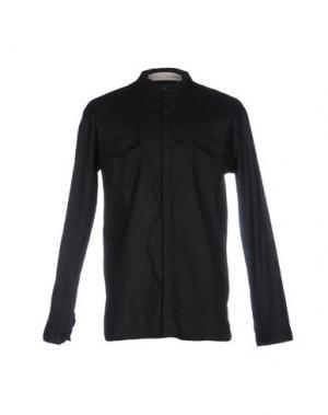 Джинсовая рубашка ISABEL BENENATO. Цвет: черный
