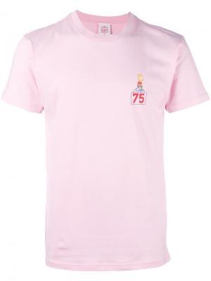 Футболка с принтом Bart Simpson Joyrich. Цвет: розовый и фиолетовый