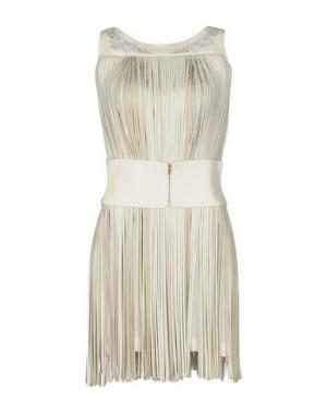 Короткое платье JITROIS. Цвет: слоновая кость