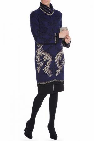 Пальто Paola Joy. Цвет: темно-синий