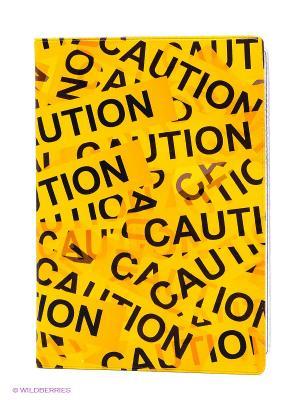 Обложка для автодокументов Оранжевый скотч Mitya Veselkov. Цвет: желтый, черный