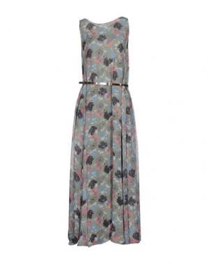 Длинное платье ALEXANDER TEREKHOV. Цвет: светло-зеленый