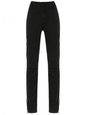 Denim skinny trousers Olympiah. Цвет: чёрный