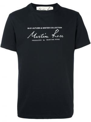 Футболка Classic Logo Martine Rose. Цвет: чёрный