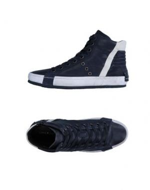Высокие кеды и кроссовки CRIME LONDON. Цвет: темно-синий