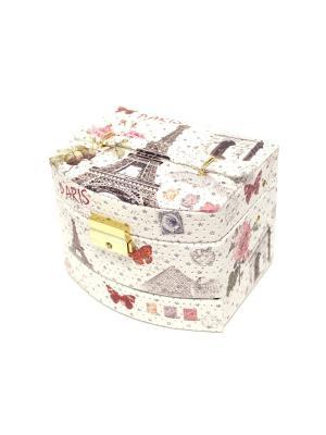 Шкатулка для украшений Eleon. Цвет: белый, коричневый, розовый
